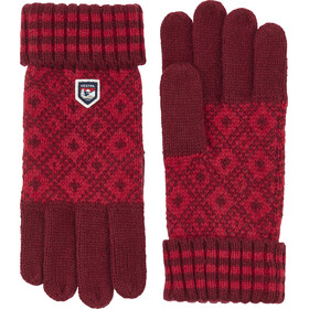 Hestra Fryken Gants, dark red/red
